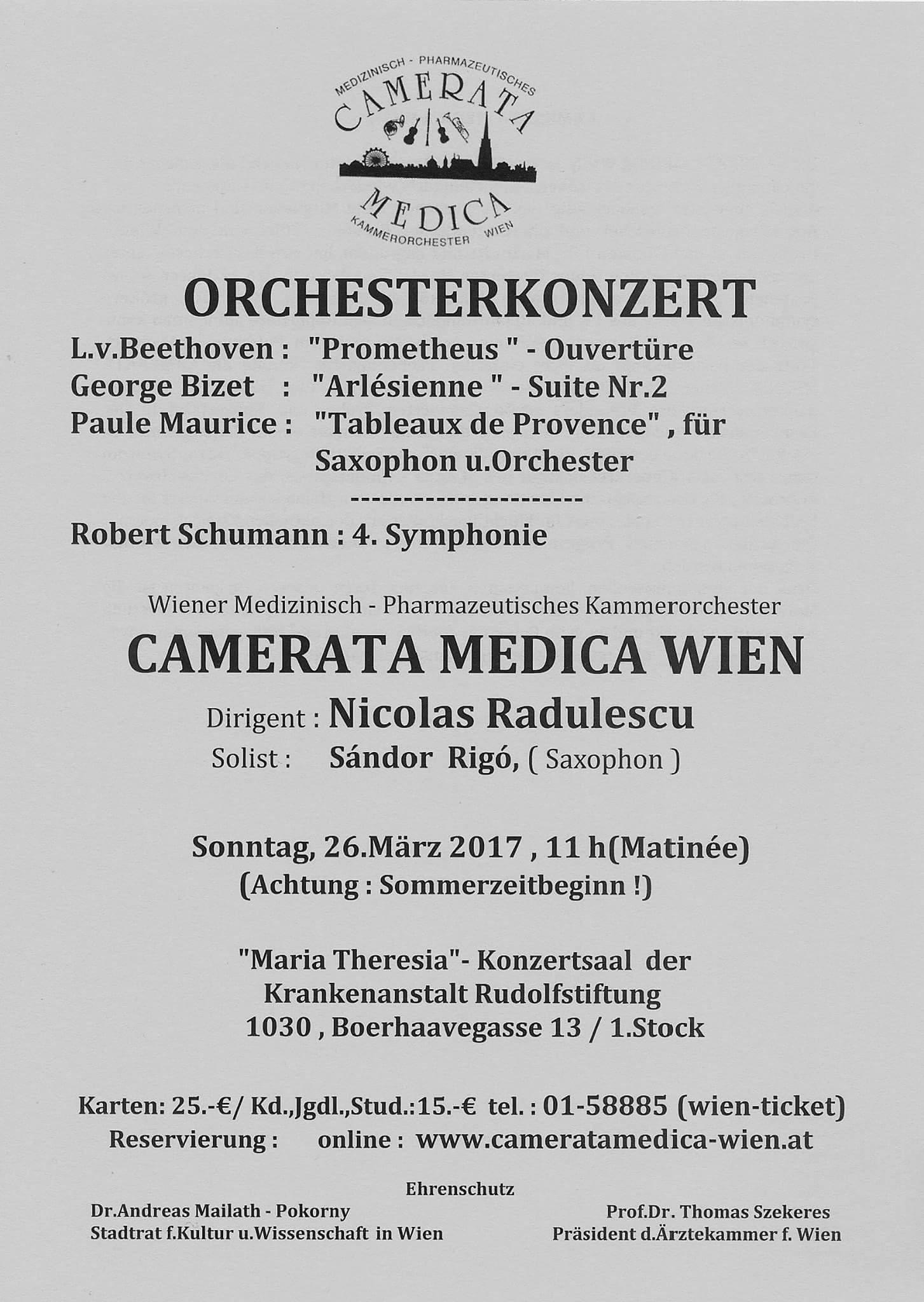 Concerts Classic Sandor Rigo